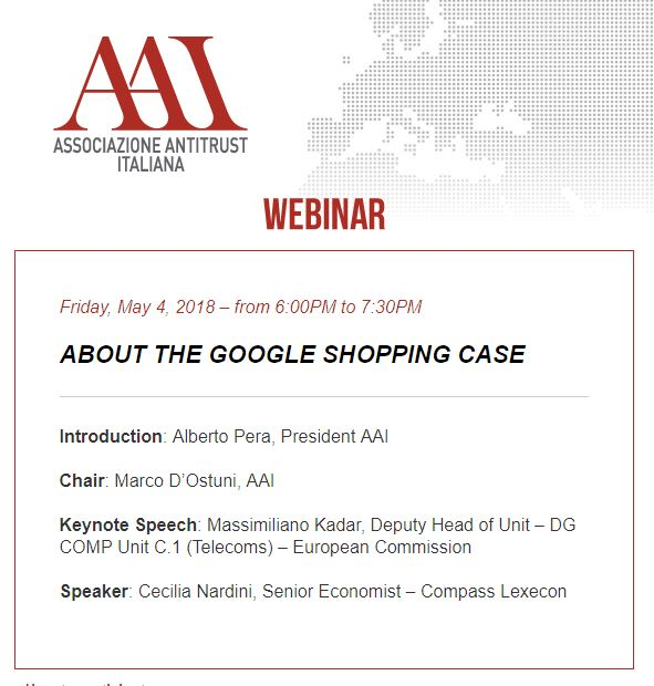 About the Google Shopping Case
